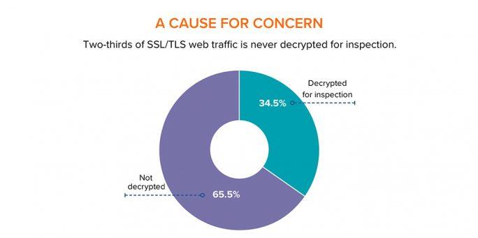 Nur ein Drittel des SSL/TLS-Webtraffic wird derzeit zu Prüfzwecken entschlüsselt (Bild: Cyberedge)