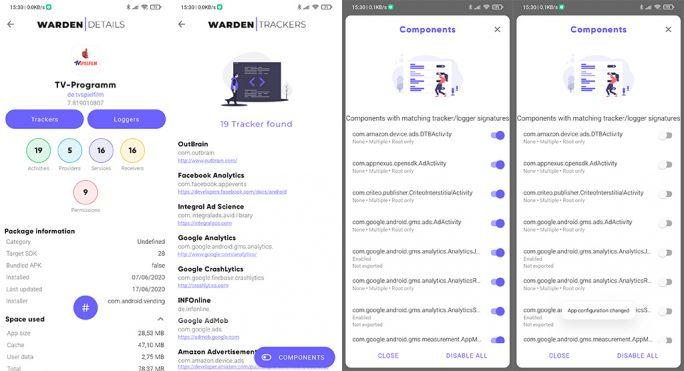Warden: Tracker entfernen (Screenshot: ZDNet.de)