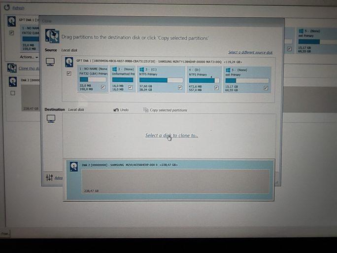 Windows 10 auf USB-SSD klonen: Macrium Reflect: Zielmedium auswählen (Screenshot: ZDNet.de)