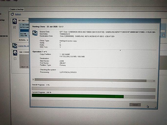 Windows 10 auf USB-SSD klonen: Macrium (Screenshot: ZDNet.de)