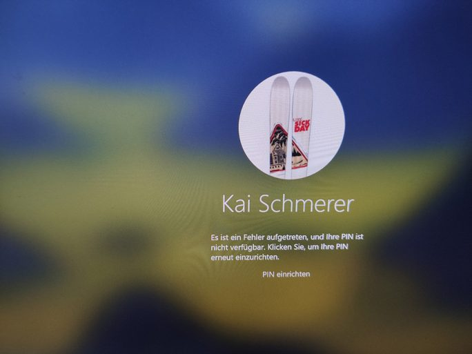 Start vom externen Speichermedium: Anmeldung mit PIN funktioniert nicht (Screenshot: ZDNet.de)