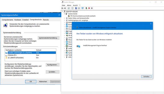 Windows 10 auf USB-SSD: Nach dem ersten Start sind ein paar Anapssungen nötig (Screenshot: ZDNet.de)