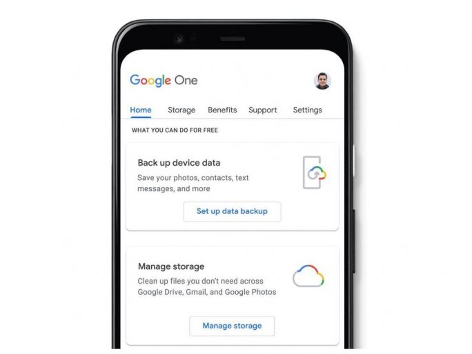 Gratisfunktionen der Google-One-App (Bild: Google)