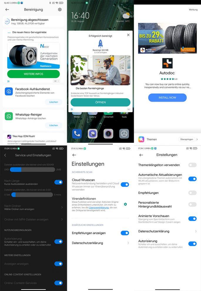 MIUI 12: Werbung abschalten (Screenshot: ZDNet.de)