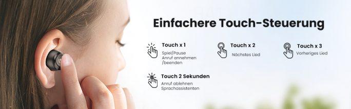 Ugreen HiTune: Touch-Steuerung (Bild: Ugreen)