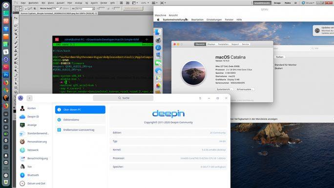 Deepin 20: Windows- und macOS-Programme lassen sich ausführen (Screenshot: ZDNet.de)