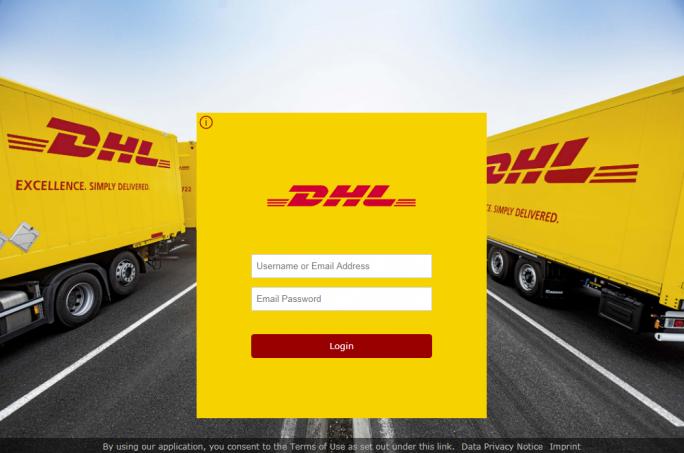 Gefälschtes DHL Log-In (Bild: Proofpoint)
