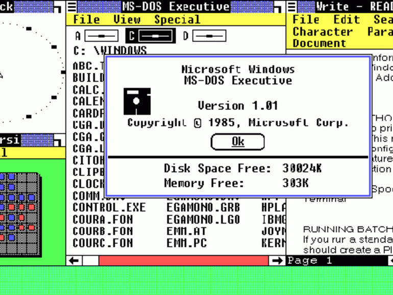 1985: Windows 1.0