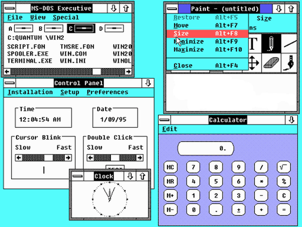 1987: Windows 2.0