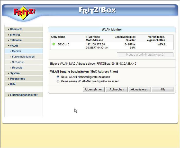 fritz box 7170 als repeater