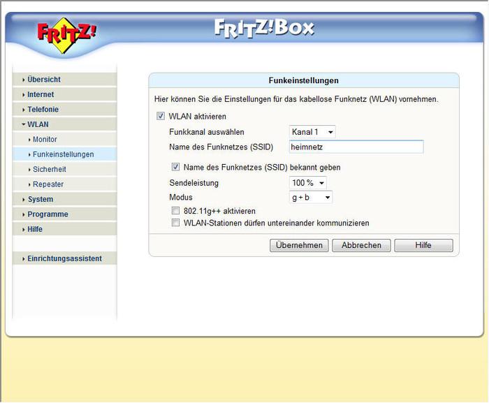 richtiger platz fritzbox