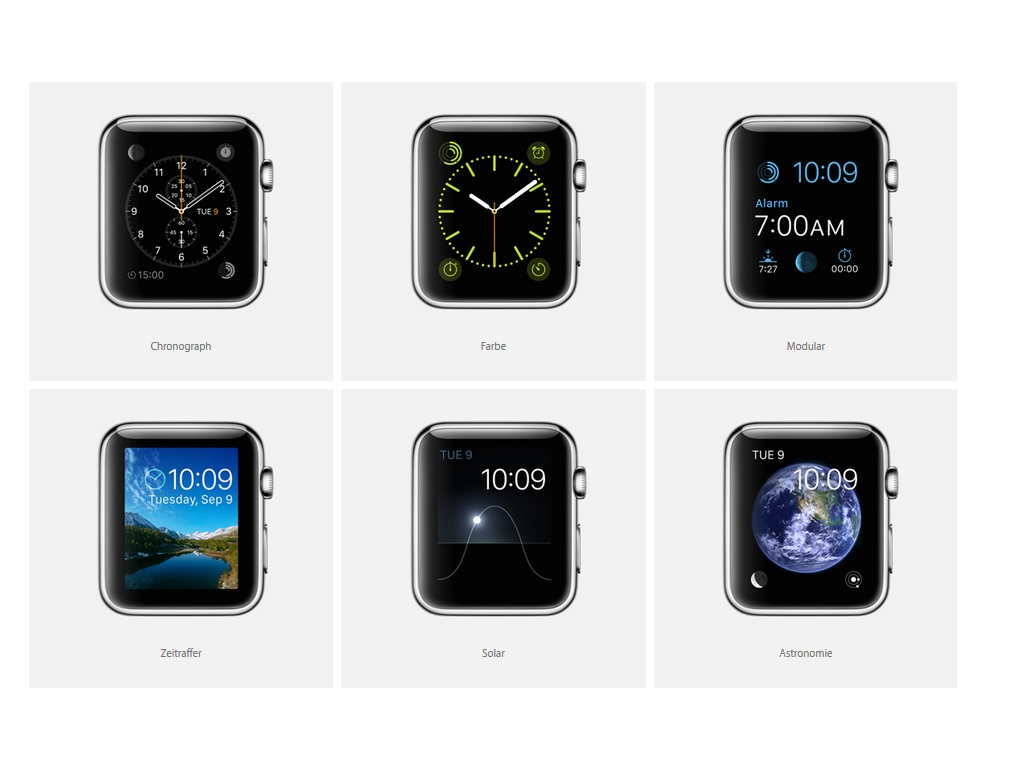 Apple Watch: Zifferblätter