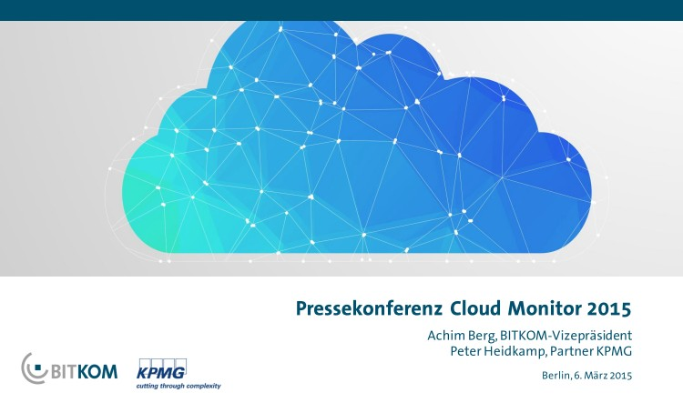 Bitkom Cloud-Monitor 2015