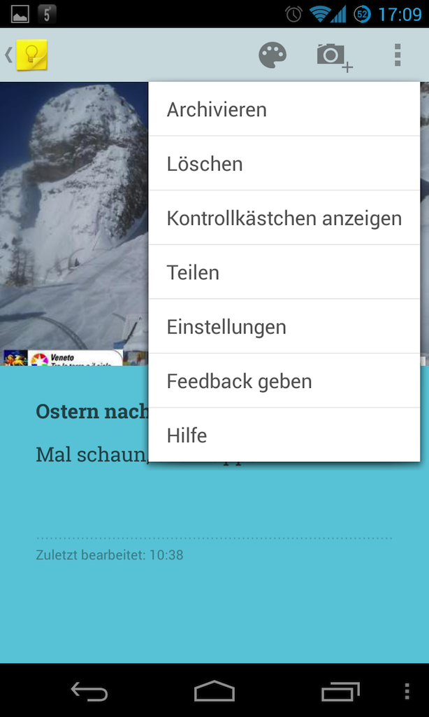 google-keep-optionen