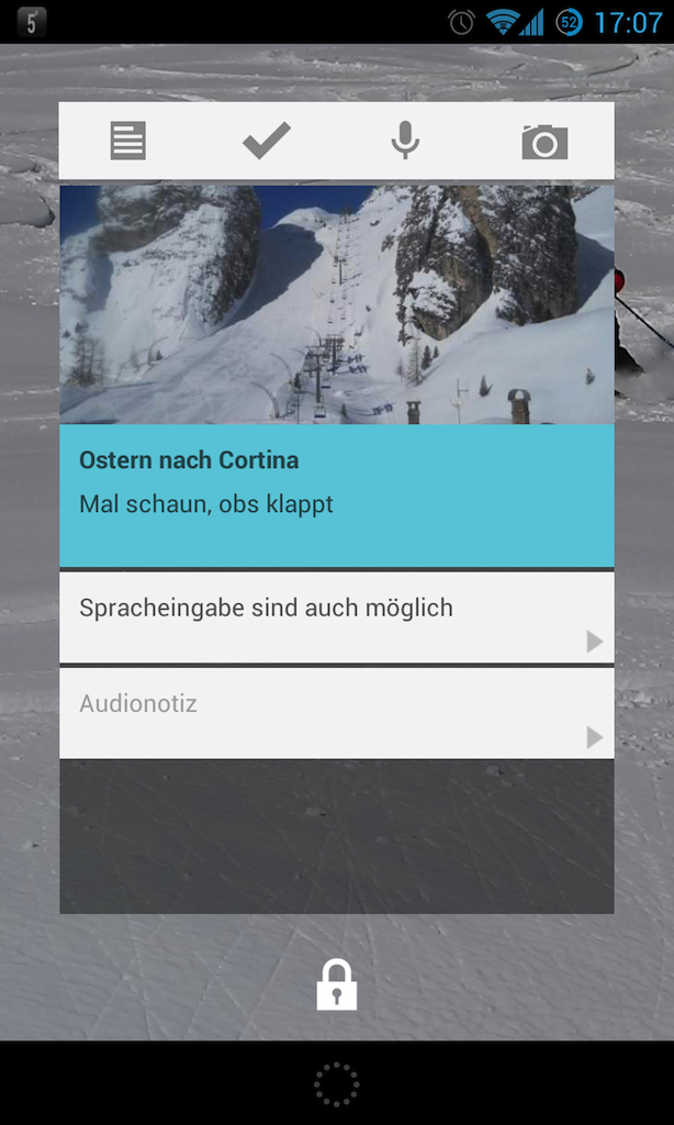 google-keep-widget-sperrbildschirm