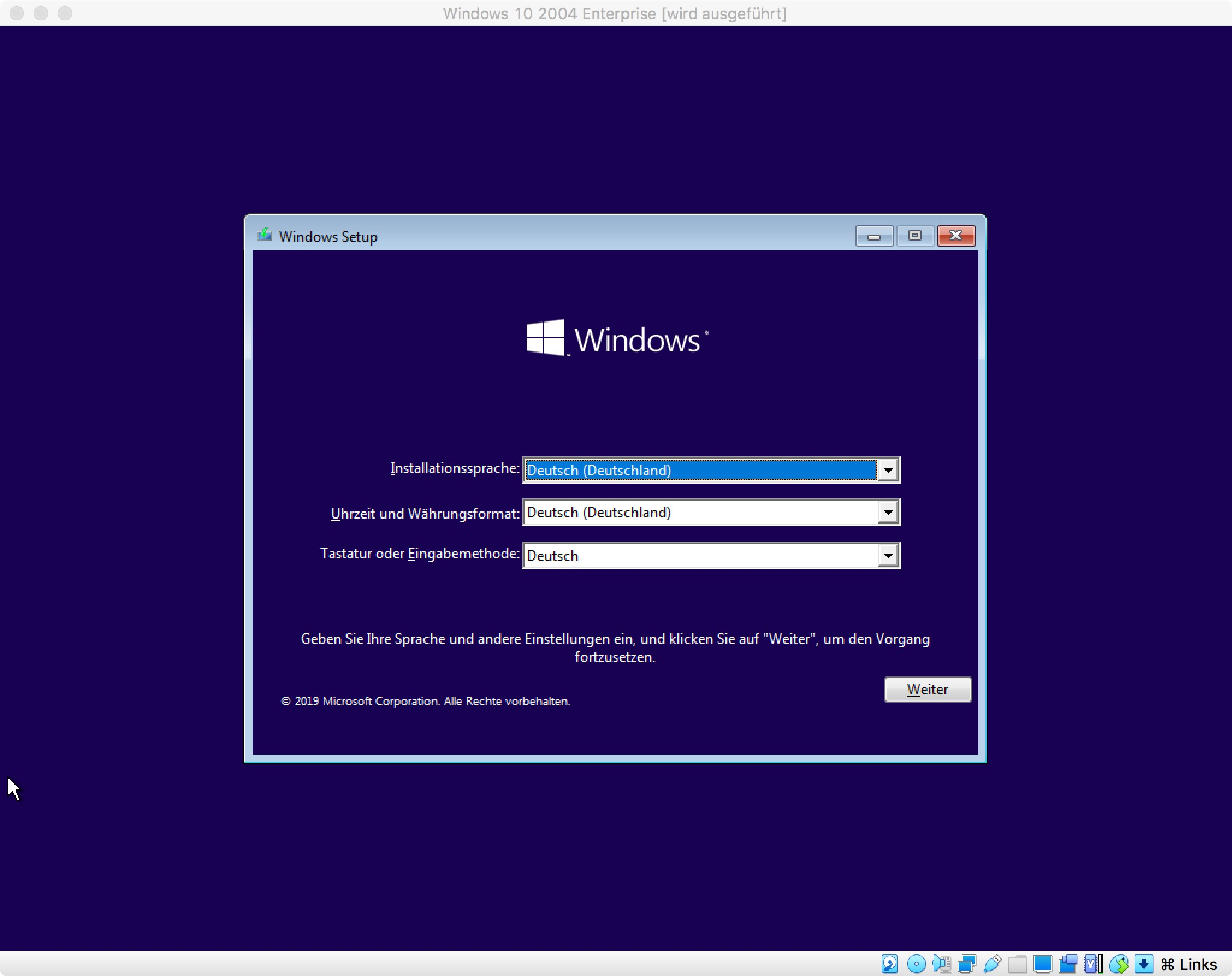 Windows 10 2004 Enterprise Edition: Setup