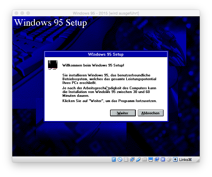 Windows 95 Setup