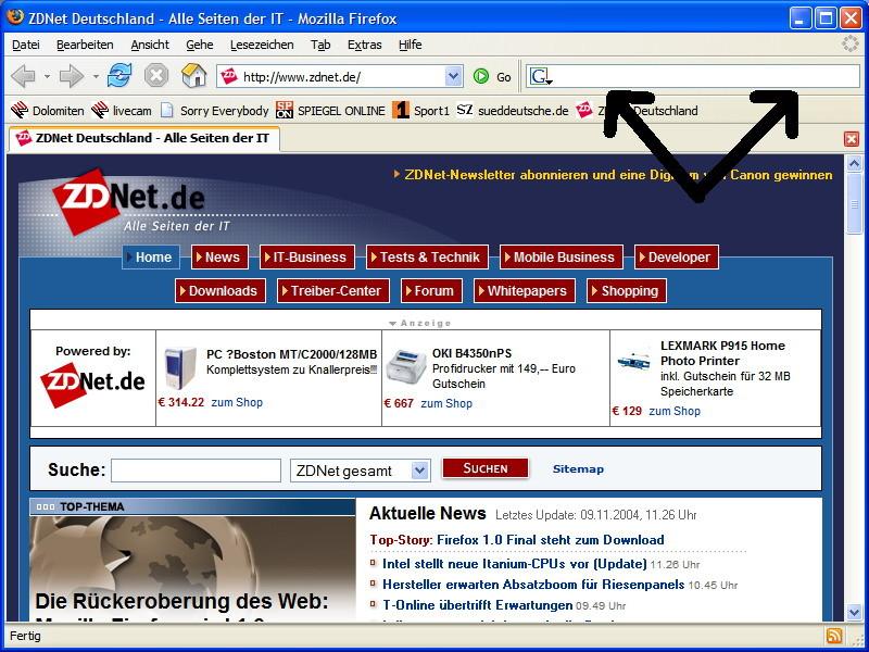 Mit der Erweiterung Resize Search Box 0.0.3 kann man das Such-Fenster vergrößern.