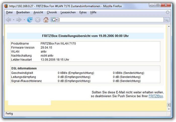 Bild 9: Ein Klick präsentiert die Mail im Browser mit korrekter HTML-Formatierung.