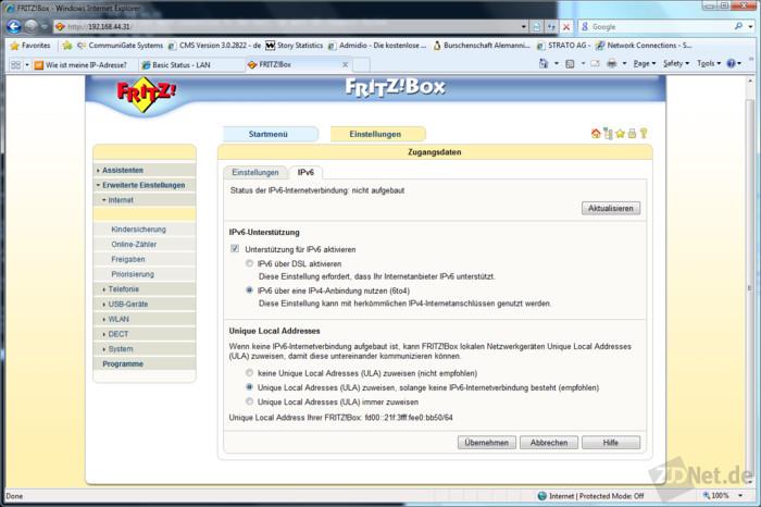 So konfiguriert man IPv10 mit der Fritzbox 10