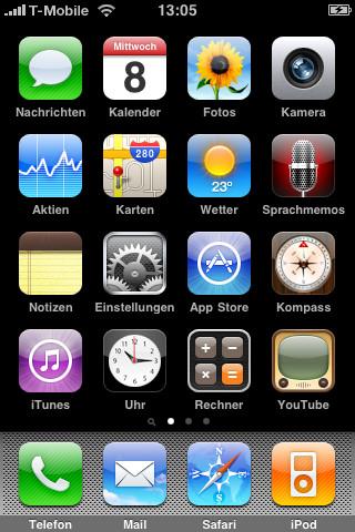 Die Standardansicht des iPhones kennt jeder. Kein Wunder, sie lässt sich so gut wie nicht verändern.