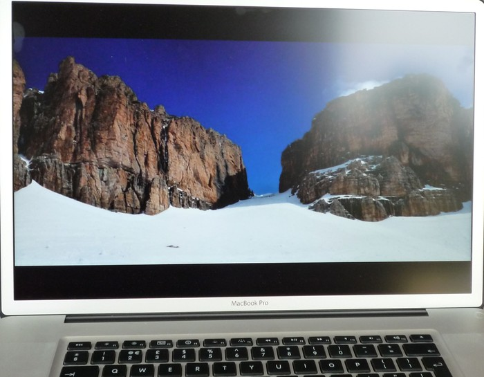 Innen (hell): Macbook Pro mit matter Oberfläche