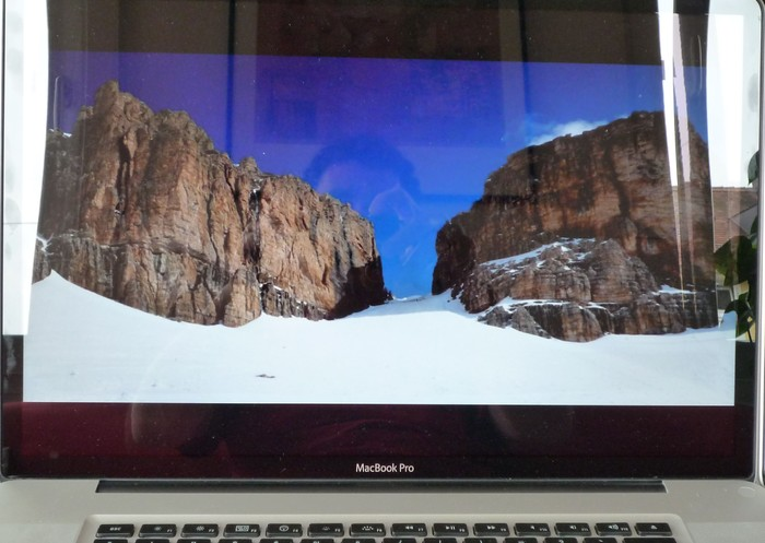 Innen (hell): Macbook Pro mit Glossy-Display