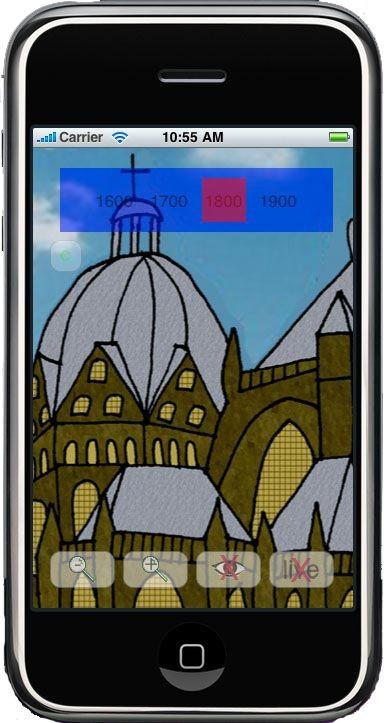 """So sieht """"Looking Throgh Time"""" auf dem Display aus (Bild: RWTH Aachen)."""