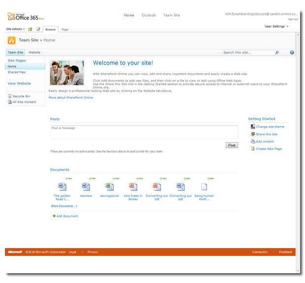 Auch eine gehostete Sharepoint-Version gehört zu Office 365.