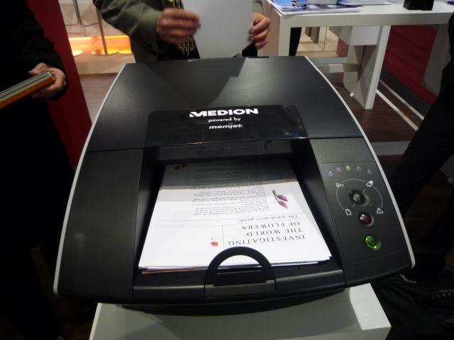 Medion will die Tintendrucktechnologie von Memjet ab dem zweiten Quartal in Deutschland vermarkten. Der erste verfügbare Drucker, der Medion E89400, kostet voraussichtlich 600 Euro (Bild: ZDNet).