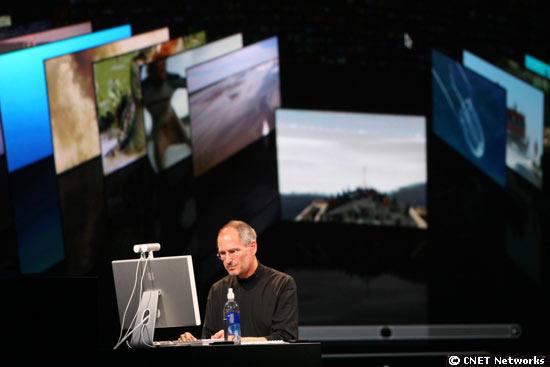 Auf der Worldwide Developers Conference im Juni 2007 zeigt Jobs das Core-Animation-Feature von Leopard, der sechsten Version von Mac OS X.