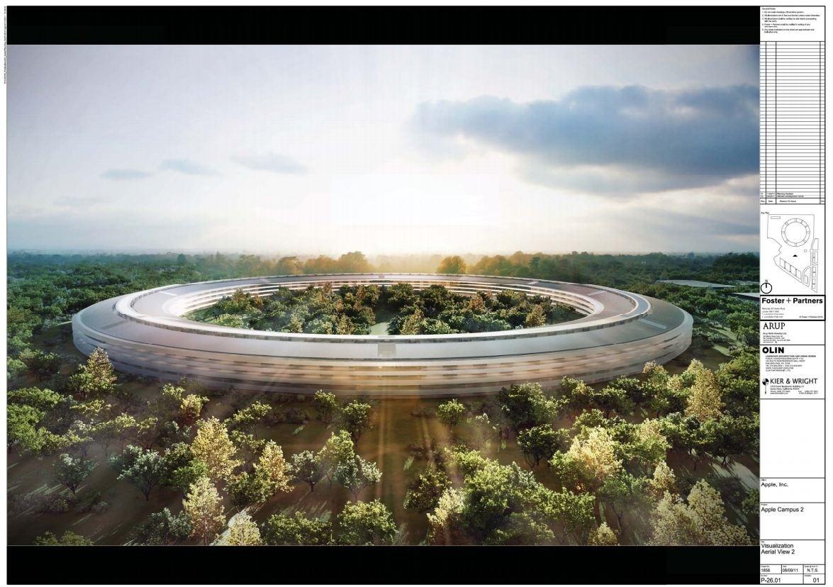 Apple Campus 2: geplante Fertigstellung 2015 (Bild: Cupertino.org)