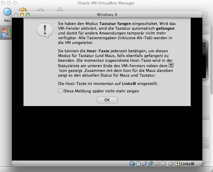 """Nach dem Klick auf \""""Start\"""" beginnt der virtuelle x86-PC von der zuvor eigebundenen ISO zu booten."""