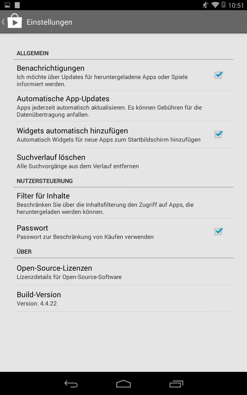 """Standardmäßig wird jedes neu installierte Programm als Icon auf dem Homesreen abgelegt. Wer diese nicht wünscht, deaktiviert die Option \""""Widgets automatisch hinzufügen\""""."""