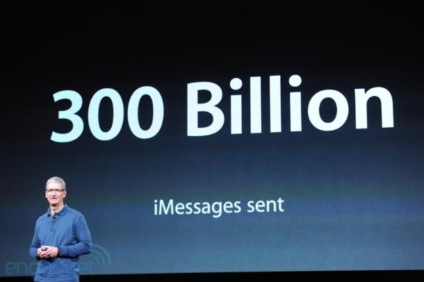 Seit der Einführung von iMessage wurden 300 Milliarden Nachrichten über den Dienst verschickt (Foto: CNET).