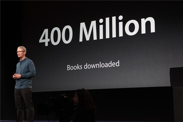 Momentan gibt es etwa 1,5 Millionen Bücher im iBookstore. Seit der Öffnung des Stores wurden rund 400 Millionen Bücher heruntergeladen (Foto: CNET).