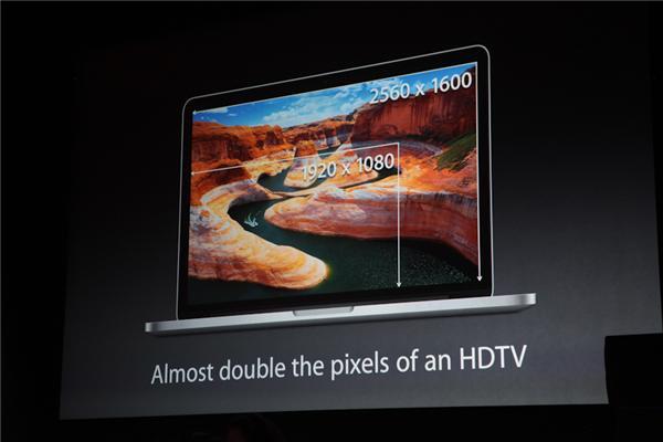 Umso erfreulicher, dass jetzt auch das neue MacBook Pro mit Retina-Display ausgestattet ist. Das 13-Zoll-Modell bietet mit 2560 x 1600 Pixeln natürlich weniger Pixel als das 15-Zoll-MacBook Pro mit seinen 2880 x 1800 Pixeln, übertrifft damit aber jeden anderen Laptop dieser Größe (Foto: CNET).