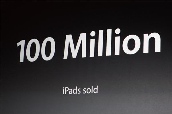 Bis dato wurden 100 Millionen iPads verkauft (Foto: CNET).