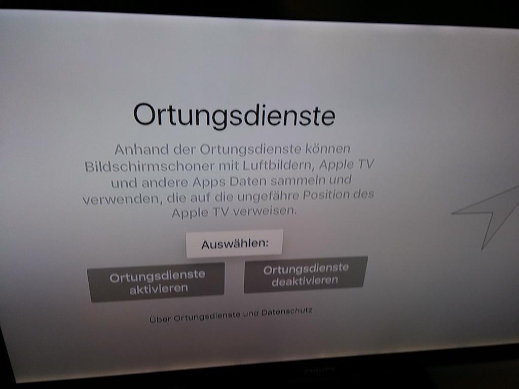 Anschließend legt man fest, ob Ortungsdienste ...<br>  (Bild: ZDNet.de)