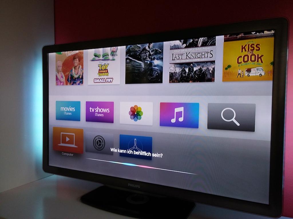 Neu ist die Spracheingabe. Hierfür hat Apple in die Fernbedienung ein Mikrofon eingebaut. <br> (Bild: ZDNet.de)