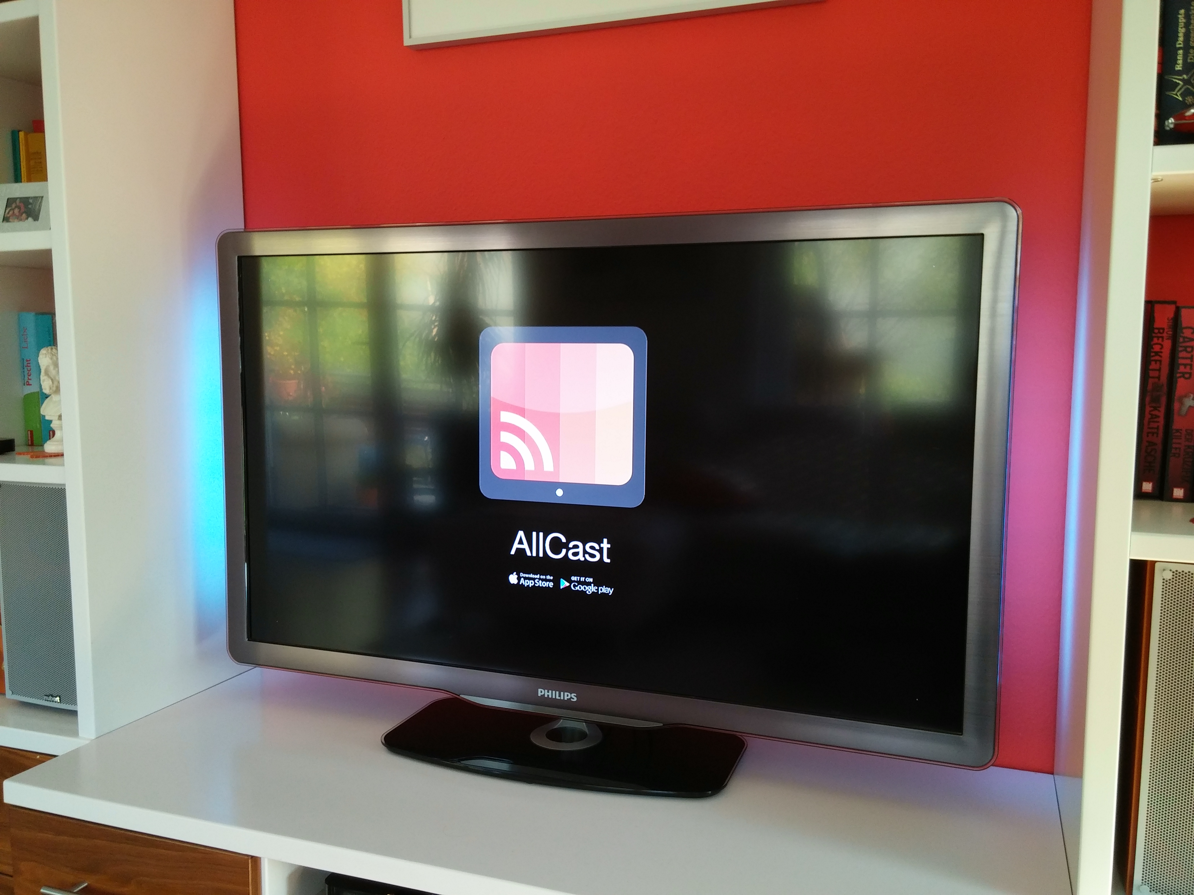 ... wird die App AllCast benötigt. (Bild: ZDNet.de)
