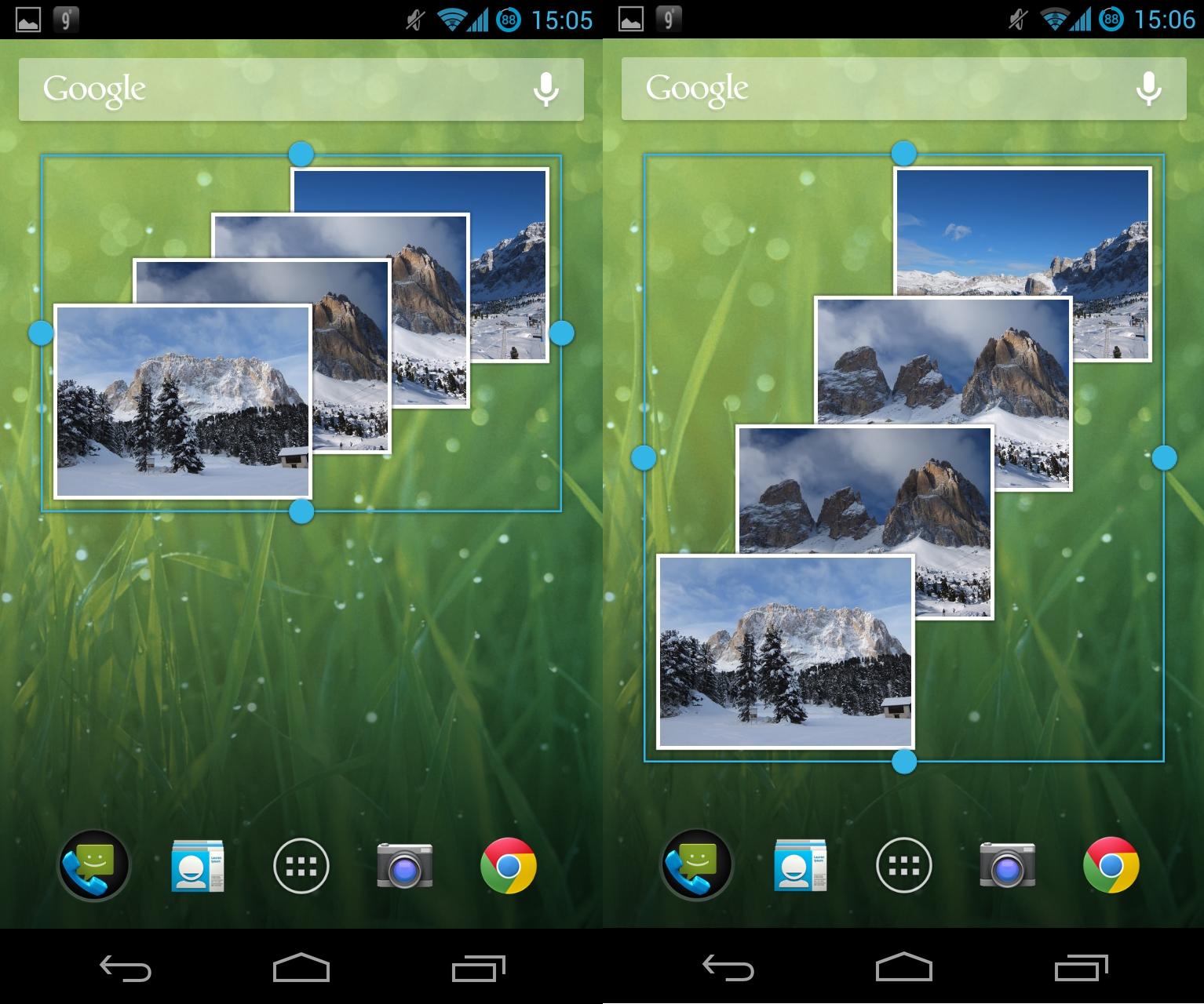Ein echtes Highlight ist die Größenanpassung für Widgets, wodurch die verfügbare Bildschirmfläche besser ausgenutzt werden kann.