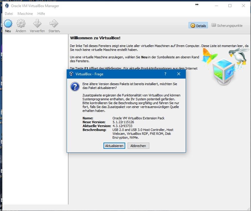 """Um die neue Linux-Distribution Debian 9 Stretch auszuprobieren, ist Virtualbox sehr gut geeignet. Die Virtualisierungslösung steht für Windows, macOS und Linux zur Verfügung. Um die volle Performance und sämtliche Funktionen nutzen zu können, muss außerdem noch das Extension Pack installiert werden. Ein Doppelklick darauf startet Virtualbox und anschließend die Installation des Extension Packs. <br> Debian 9 Stretch liegt in einer DVD-Version mit 3,5 GByte und einer Netzwerkinstallation mit knapp 300 MByte vor. Verwendet man letztere werden während der Installation fehlende Pakete heruntergeladen.<br> Downloads:</br> - <a href=\""""https://www.virtualbox.org/wiki/Downloads\"""">Virtualbox 5.1.22</a></br> - <a href=\""""http://download.virtualbox.org/virtualbox/5.1.22/Oracle_VM_VirtualBox_Extension_Pack-5.1.22-115126.vbox-extpack\"""">VirtualboxExtension Pack 5.1.22</a></br> - <a href=\""""https://cdimage.debian.org/debian-cd/current/amd64/iso-dvd/debian-9.0.0-amd64-DVD-1.iso\"""">Debian 9.0.0 64-Bit (3,5 GByte)</a></br> - <a href=\""""https://cdimage.debian.org/debian-cd/current/amd64/iso-cd/debian-9.0.0-amd64-netinst.iso\"""">Debian 9.0.0 64-Bit Netzwerkinstallation (300 MByte)</a></br>"""