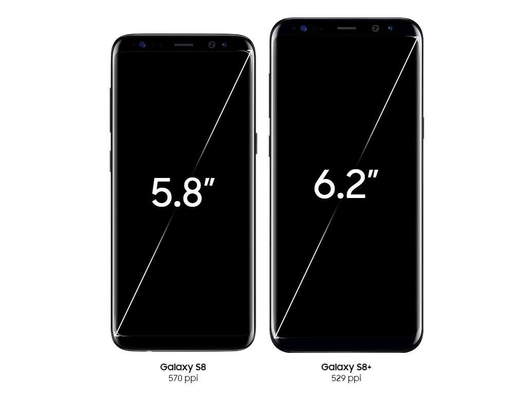 """Am 29.3.2017 hat Samsung seine beiden neuen Smartphone-Flaggschiffe Galaxy S8 und Galaxy S8+ <a href=\""""http://www.zdnet.de/88291071/galaxy-s8-samsung-unpacked-event-2017-startet/\"""" target=\""""_blank\"""">vorgestellt</a>. Sie können für 799 und 899 Euro vorbestellt werden. Die Auslieferung erfolgt am 18.4. Im Handel sollen sie ab dem 28.4 verfügbar sein. <br> Das Galaxy S8 verfügt über ein 5,8 Zoll großes, sogenanntes Infinity-Display. Wie bisher basiert es auf der Super-Amoled-Technik. Das Galaxy S8+ bietet ein 6,2 Zoll großes Modell. Dadurch sind beide S8-Varianten etwas größer als die Vorgängergeneration mit 5,1 und 5,7-Zoll-Bildschirmen.<br> Die Auflösung beträgt maximal 2960 x 1440 Bildpunkte. Vermutlich wird sie jedoch, wie nach dem Update auf Android 7.0 beim Galaxy S7, standardmäßig etwas niedriger eingestellt sein, um eine länger Batterielaufzeit zu erreichen. (Bild: Samsung)"""