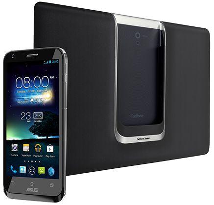 """In Kombination mit dem """"Padfone Station"""" genannten Dock verwandelt sich das Android-4.0.3-Smartphone in ein 10,1-Zoll-Tablet mit einer Auflösung von 1280 mal 800 Bildpunkten (Foto: Asus)."""