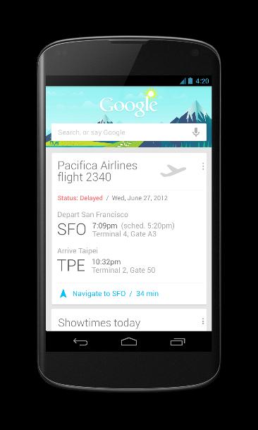 Google Now wurde für Android 4.2 optimiert (Foto: Google).