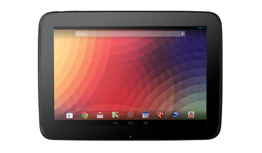 Nexus 10: Hersteller ist anders als beim Nexus 7 nicht Asus, sondern Samsung. Das 10-Zoll-Display mit einer Auflösung von 2560 mal 1600 weist eine Pixeldichte von 300 ppi auf. Hier übertrifft Google sogar die 2048 mal 1536 Pixel oder 264 ppi des Retina-Displays von Apples jüngsten iPad-Modellen (Foto: Google).