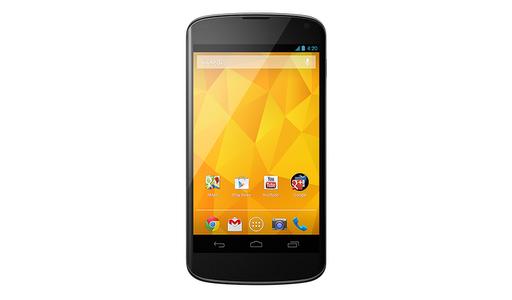 Das Nexus 4 wird von dem 1,5 GHz schnellen Quad-Core-Prozessor Snapdragon S4 Pro angetrieben. Der Arbeitsspeicher ist 2 GByte groß. Kunden werden zwischen einer Version mit 8 GByte oder 16 GByte internen Speicher wählen können. Dieser ist aufgrund eines fehlenden MicroSD-Kartenslots nicht erweiterbar (Foto: Google).