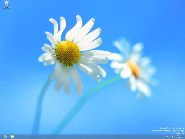 ... wird der klassische Desktop aufgerufen. Windows 8 bietet ... (Screenshot: ZDNet).