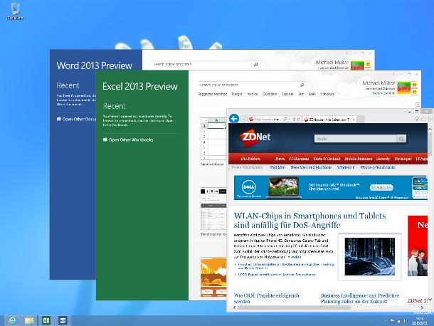 ... volle Abwärts-Kompatibilität (Screenshot: ZDNet).
